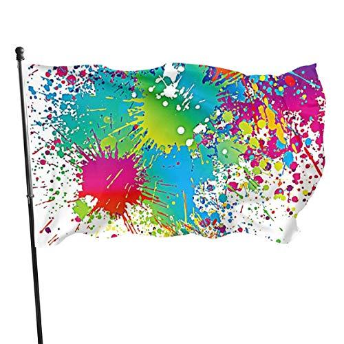 Oaqueen Flagge/Fahne, Seasonal Splatter Paint Garden Flag, Game Flag - 3 X 5 Ft