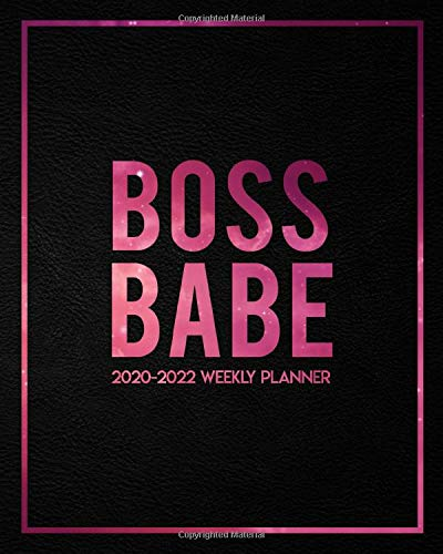 Boss Babe 2020 2022 Weekly Planner: Pretty Black Velvet & Pink Galaxy 3 Year Organizer with Weekly Spread Views   Nifty In...