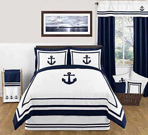 Sweet Jojo Designs Anchors Away Nautical Navy and