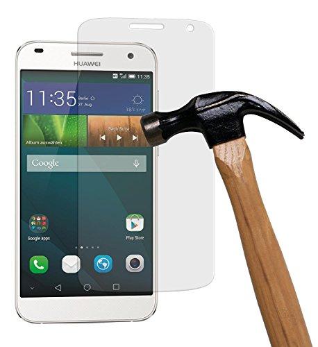 yayago Bildschirmschutzglas 0,26 MM Bildschirmschutzfolie für Huawei Ascend G7 Glasfolie Hartglas 9H (bewusst Kleiner als das Bildschirm, da Dieses gewölbt ist)