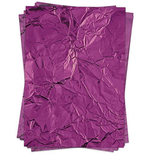 50 Blatt Briefpapier (A4) | Fotomotiv Knitter Metallpapier Look lila | Motivpapier | edles Design Papier | beidseitig bedruckt | Bastelpapier | 90 g/m²