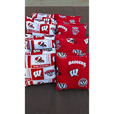 University of Wisconsin Badgers tournament regulation cornhole bags set of 8