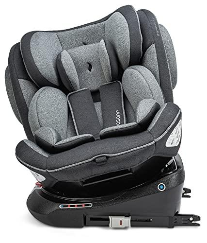 Osann Swift360 Kinderautositz drehbar Gruppe 1/2/3 (9-36 kg), Autositz Universe Grey