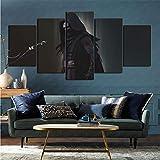 mmkow Imprime Imágenes para La Película Star Wars Multi Panel Moderno5 Paneles Regalo Presente...