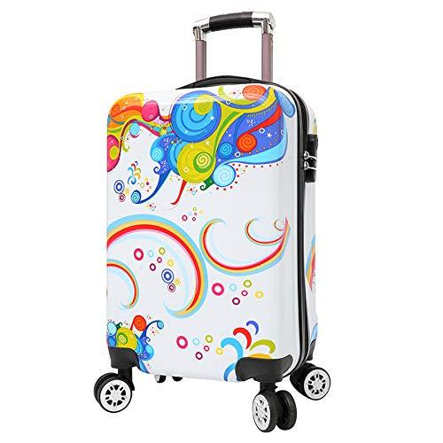 SONGXZ Kinderkoffer 2019 New Cartoon Pc Luggage Universal Wheel Wear Kinderkoffer