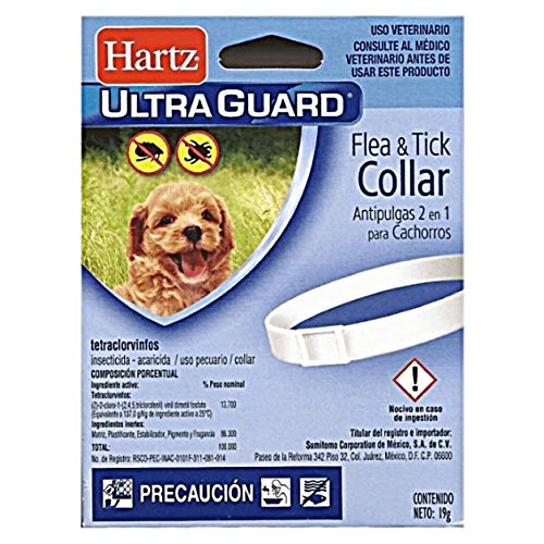 HARTZ Ultra Guard Water Resistant Protection Flea and Tick Collar for Puppies, White,,15""