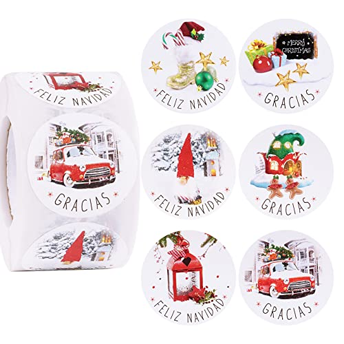 Etiquetas Navidad Español Marca