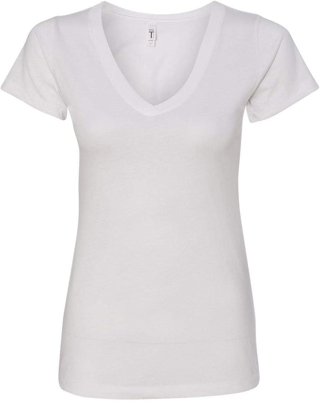 Next Level Women's 1X1 Baby Ideal V-Neck T-Shirt