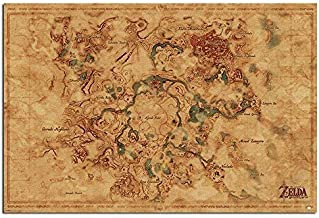 The Legend of Zelda Breath of The Wild Hyrule Map Poster Gloss Laminated - 91.5 x 61cms (36 x 24 Inches)