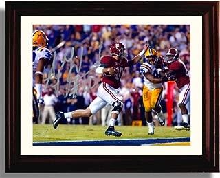 Framed Alabama Crimson Tide 2013 Champions A.J. McCarron LSU Touchdown Autograph Replica Print