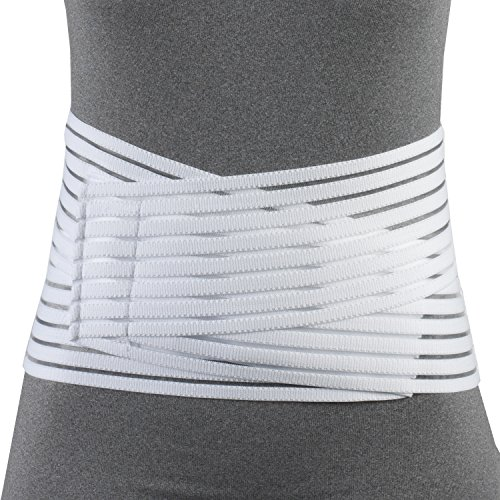 OTC Lumbosacral Support, 7-inch Lower Back, Lightweight Compression, Elastic, Medium