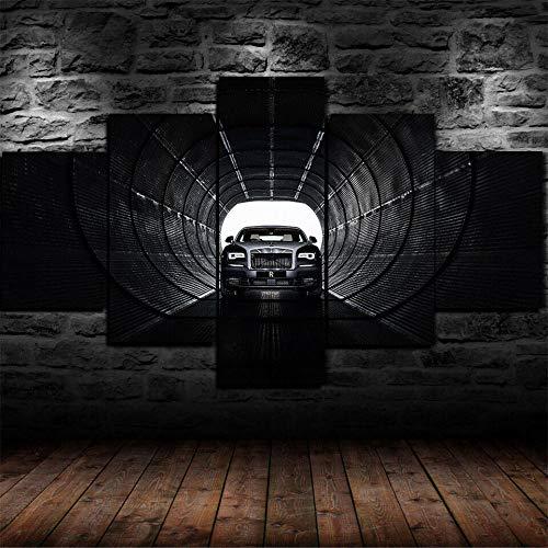 GSDFSD Rolls Wraith Eagle VIII Coche Deportivo Impresión de 5 Piezas Material Tejido no Tejido Impresión Artística Imagen Gráfica Decoracion de Pared Abstracto Oriente Cuadros Modernos Imagen