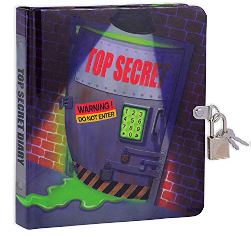 Top Secret Lock and Key Diary for Children