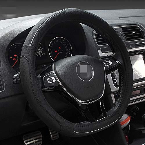 """HONCENMAX D Typ Fahrzeug Lenkradabdeckung Auto Lenkradschutz D-Form Durchmesser 38cm (15"""") [Flacher Boden]"""