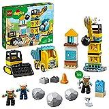 LEGO 10932 Duplo Town Derribo con Bola de Demolición con Camión Juguete, Grúa y Excavadora para Bebes 2+ años