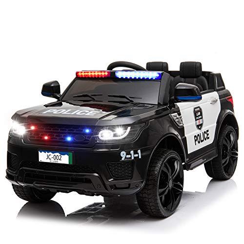 papasbox Kids Police Ride On Car,12V SUV Battery Operated...