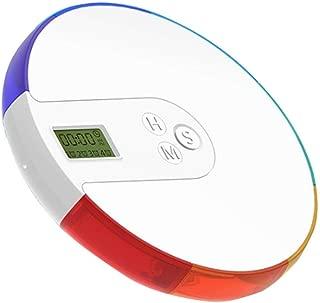 Pastillero Digital, Vagalbox Dispensador Automático de Pastillas, Organizador Electrónico de Medicamentos de 7 días con Recordatorios de Alarma, Estuche para Pastillas y Medicamentos, con Compartimientos de 7 Colores, pastillero