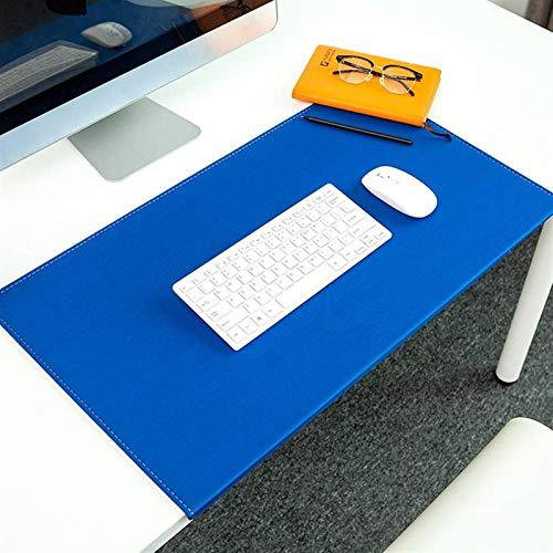 Alfombrilla de escritorio de lujo, antideslizante, con textura y bordes cerrados, alfombrilla de ratón grande con protección de bordes, protector de mesa para oficina, hogar, escuela, escritorio