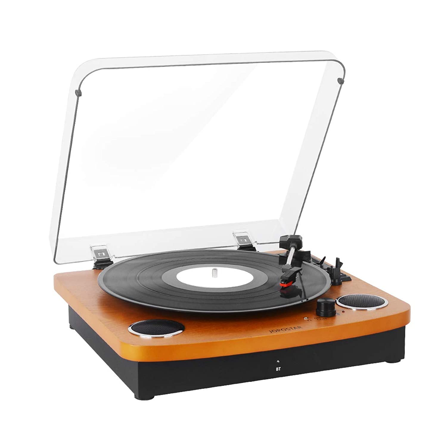 Record Player Vintage Vinyl Record Turntable Player with Bluetooth,LP 3-Speed Belt-Drive,RCA Output,3.5mm Aux Input,Headphone Jack