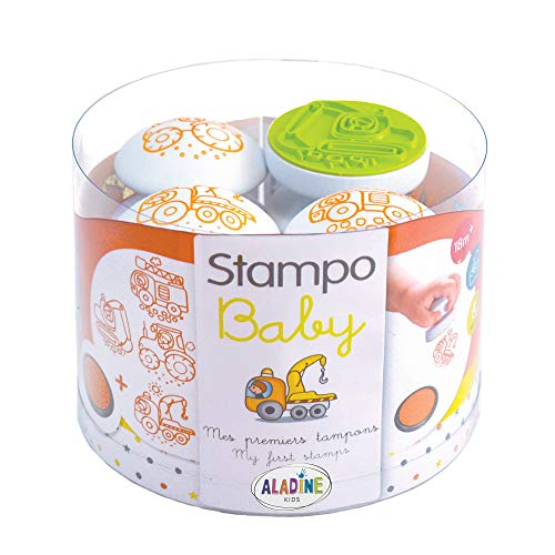 Aladine 3003808 - Stampo Baby Baumaschinen