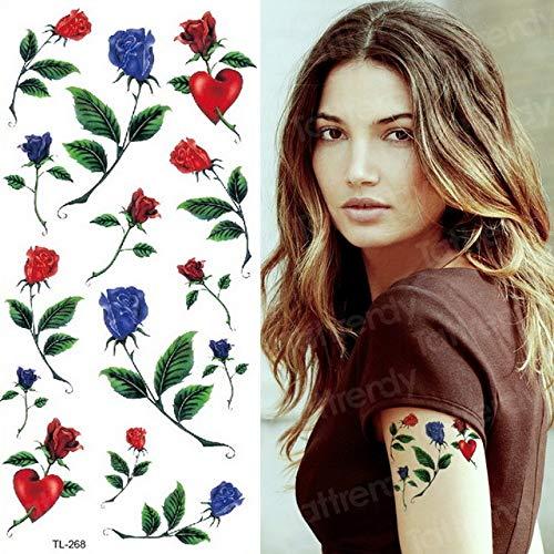 3pcs Flor Rosa Etiqueta engomada del Tatuaje a Prueba de Agua niña niño Body Art 3pcs-9