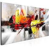 murando Quadro Astratto 140x70 cm Stampa su tela in TNT XXL Immagini moderni Murale Fotografia Grafica Decorazione da parete 1 pezzo colorato come dipinto a-A-0320-b-a
