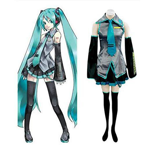 SUNKEE Vocaloid,Hatsune Miku Cosplay Kostüm, Größe S:Höhe 154-157CM,Gewicht 40-45 kg