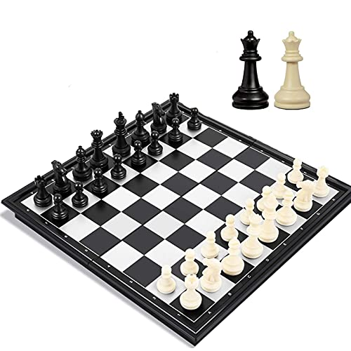 Travel Chess Set for Adults and Kids, 9.8 inch Magnetic Chess Board...