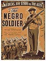 黒人兵士のブリキのサインヴィンテージ面白い生き物鉄の絵の金属板人格ノベルティ