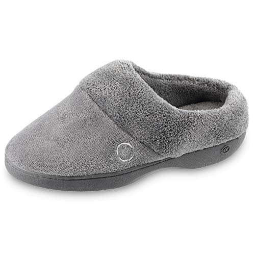 isotoner womens Terry in Clog, Memory Foam, Comfort and Arch Support, Indoor/Outdoor Slip on...