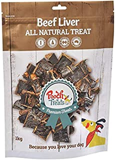 Pooch Treats Beef Liver Dog Treats, 1kg