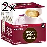 Nescafé Dolce Gusto Espresso Decaffeinato - Pack de 2, 2 x 16 cápsulas por Nescafé
