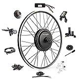 EBIKELING Waterproof Ebike Conversion Kit 48V 1200W 700C Direct Drive (NOT 26') Electric Bike Conversion Kit - Rear Wheel Electric Bicycle Hub Motor Kit (Rear/LCD/Twist)
