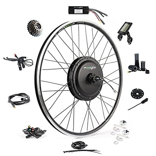 "EBIKELING Waterproof Ebike Conversion Kit 48V 1200W 700C Direct Drive (NOT 26"") Electric Bike Conversion Kit - Rear Wheel Electric Bicycle Hub Motor Kit (Rear/LCD/Twist)"