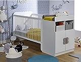 Alfred & Compagnie Mathis - Cuna evolutiva para bebé, 70 x 140 cm, color blanco