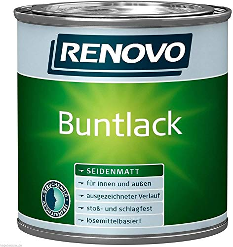Renovo Bunt-Lack seidenmatt in altweiß 2,5 l mit Zubehör für innen und außen