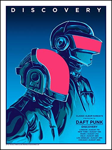 Go Awesome Daft Punk Poster Paper Print (16 inch X 25 inch, Rolled) Print Sticker Retro Unframed Wall Art Gifts 40x63cm