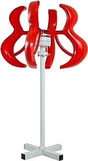RDJM Turbina eólica 5000W turbinas de generador de Viento, 12V / 24V / 48 Horizontal generador de Viento del Molino de Viento con el regulador de energía Turbinas de Carga (Color : 12V)