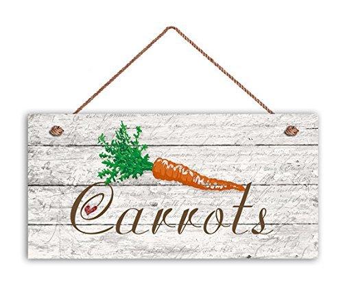 Norma Lily On Sale carottes Sign, Signe de jardin, Décor rustique, bois vieilli, 5 et (X 10 et (Panneau, panneau de légumes, cadeau pour jardinier Panneau en bois.