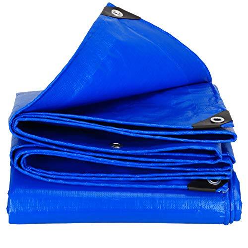 NEVY Lona Resistente, Impermeable, Resistente Al Desgarro, Lona Protectora De Polietileno Multiusos, para Todo Mal Tiempo (Color : Blue, Size : 4X5M)