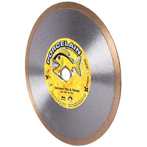Piranha 7-inch (7') Continuous Rim Wet/Dry Diamond Blade for...