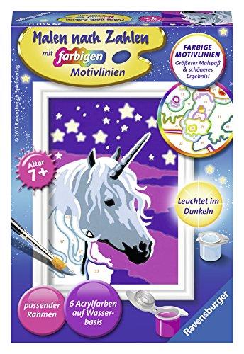 Ravensburger Malen nach Zahlen 29550 - Einhorn - Für Kinder ab 7 Jahren