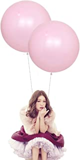 24 Inch Latex Round Balloons 10 Pack Macaron Pink Thick Big Balloons for Photo Shoot Wedding Baby Shower Birthday Party Decorations by IN-JOOYAA