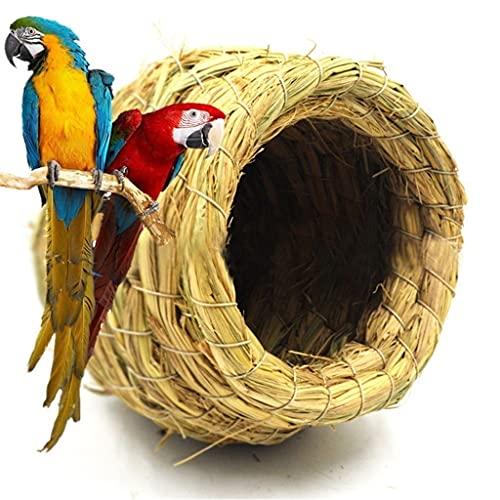 ZCWYP Handmade Straw Natural Bird Nest/Pigeon Bird House Parrot Nest Warm Pet Bedroom Courtyard Bird Cages Adornment