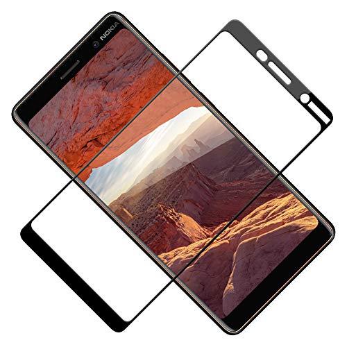 TOIYIOC Panzerglas Schutzfolie für Nokia 7 Plus, [Vollständige Abdeckung] 0.30mm Ultra-klar Folie Panzerglasfolie, Bildschirmschutzfolie Glas kompatibel Nokia 7 Plus [2 Stück]