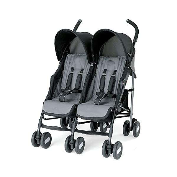 Comfort of Four Independent seat tilt Rotation Sturdy Double Locking Trolley Simple and Elegant Appearance,Grey Bursthx Four independent reclining seat, an adjustable leg support Mesh storage baskets, baby items can be placed Two front wheels with rotational locking and suspension 1