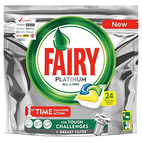 Fairy Platinum Caps para lavavajillas – Paquete de 24 x 17.54 Gr, 357gr