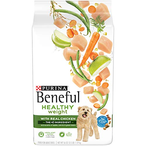 Purina Beneful Healthy Weight Dry Dog Food, Healthy Weight With Real Chicken - 3.5 lb. Bag, Pack of 4