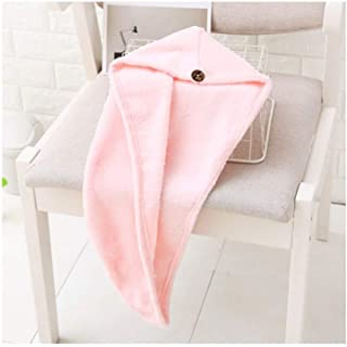 LBLMS Coral Fleece Towel, Dry Absorbent Towel Shower Cap, Shower Cap Thick Hair Cap, Quick-Drying Hair Quick-Drying Turban (Color : G)