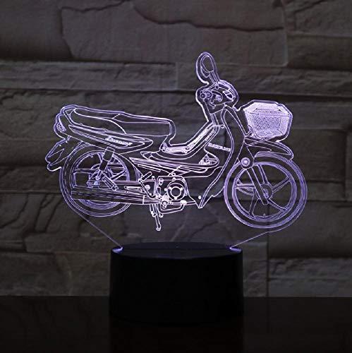 Cool motocicleta 3D lámpara Nightlight batería led noche luz luz luz luz visual efecto regalo para los amantes de la bicicleta de motor